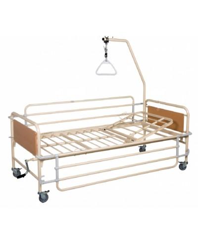 Νοσοκομειακό Χειροκίνητο Κρεβάτι Μονόσπαστο